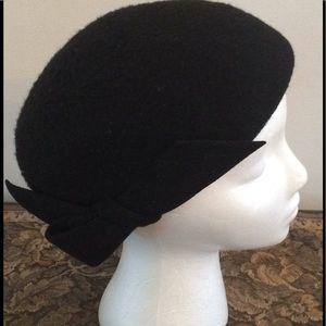 Vintage Black Wool English Made Jacoll Hat